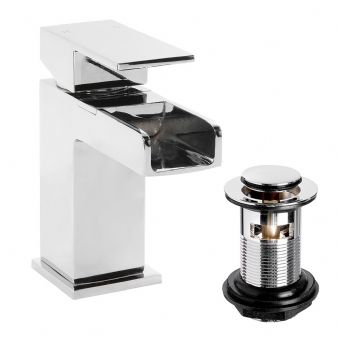 Arian Waterfall Basin Mixer with Pop Up Waste